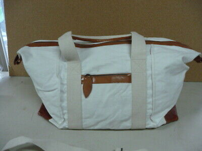 Mark and Graham Natural Canvas and Leather Weekender Bag Duffle READ  DESCRIPTI 3148e27aab096