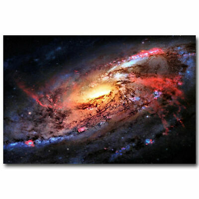 G-216 Outer Space Nasa Universe Galaxy Star Planet 03 Fabric Poster 24x36 27x40