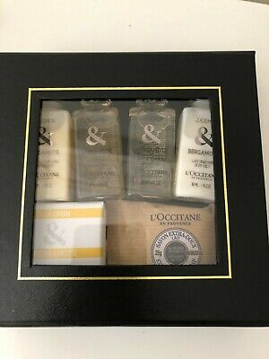 L'Occitane Bergamote Travel Kit - Body Milk Shower Gel Shampoo Conditioner Soap