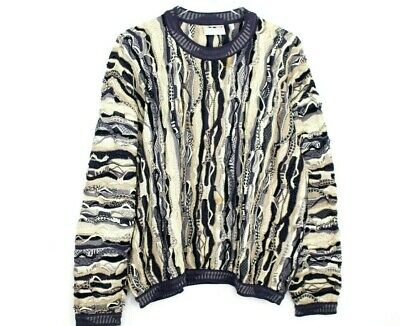 403b28f36a8401 Vintage Coogi Authentic Mens Size M Pullover Sweater 100% cotton Brown Cream