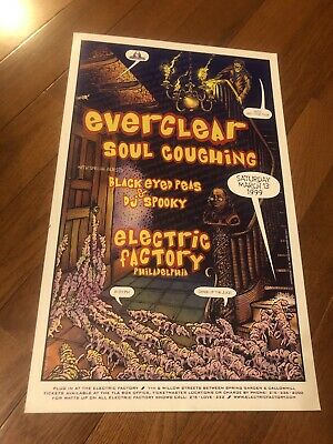 Everclear Soul Coughing Black Eyed Peas 3/13/99 Philadelphia Pa Poster Philly