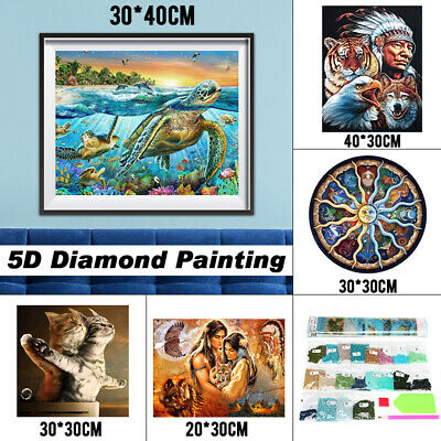 🔥 Embroidery Cross Stitch Pictures Mural 5D Diamond Painting Arts Craft Kit