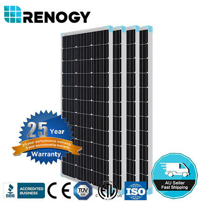 Renogy 100W 200W 300W 400W 500W 600W Watt Mono Solar Panel 12V Off Grid PV Power