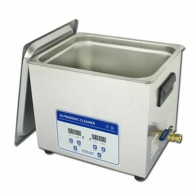 10L Professional Digital Ultrasonic Cleaner Machine with Timer Heated 110V/220V