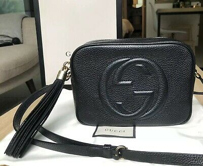 4f8db008a5a3 Authentic Gucci Soho Disco Bag Black Leather - Excellent condition with  receipt