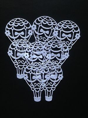 8 White Air Balloon Diecuts  - great for Cardmaking/Scrapbooking