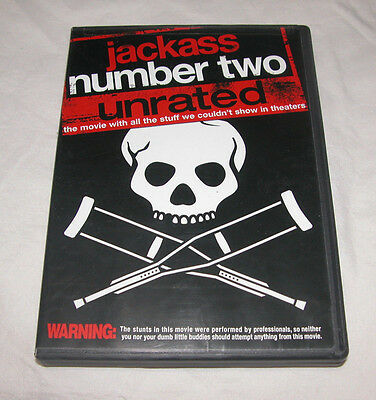 Jackass : Number Deux DVD, 2006, non Évalué Grand-écran Version, U.S.A