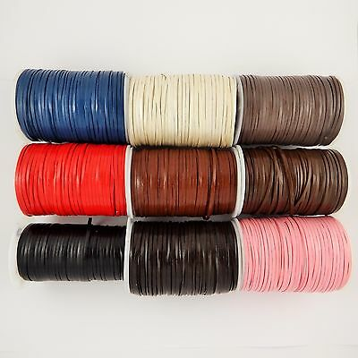 3mm & 5mm flat leather cord rope lace 1,3,5 & 10m lengths craft necklace tools