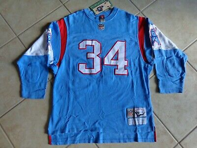 97007781e VINTAGE Houston Oilers EARL CAMPBELL  34 Jersery Heavy Weight OLD SCHOOL  NICE