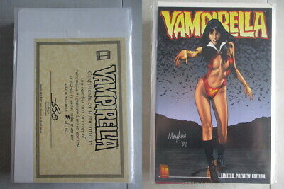 Vampirella #1 Preview Edition Signed by Mayhew Ltd. to 150 With COA