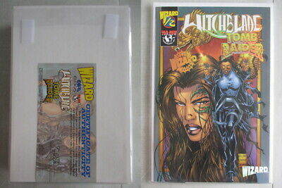 Witchblade/Tomb Raider #1/2 Wizard Gold Foil Edition With COA