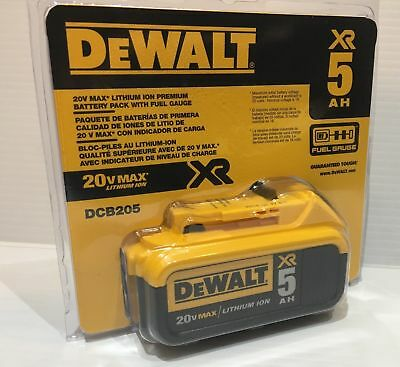 Brand New DEWALT DCB205 20V MAX XR 5.0Ah Li-Ion Battery-Pack