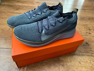 153e4406a6788 NIKE ZOOM FLY FLYKNIT Grey with Vaporfly Carbon Plate UK 9.5 US 10.5 EU  44.5 NEW