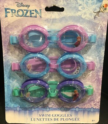 c79f65d4d5e (Set of 3) Disney FROZEN Character Kid s Swim Goggles   New in Package