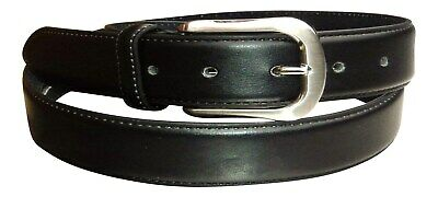 "Men's Black Leather Security Belt with Hidden Zip, 1.5"" wide  Made by Milano"