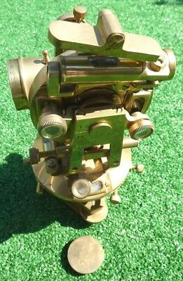 THEODOLITE, MESSING, ca. 22x11x11cm - SUPER SCHOEN UND HIGH END