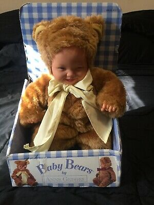 Anne Geddes Baby Bear Bean Filled Doll No Box! Punctual Vintage New With Tags