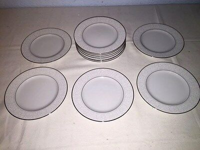 "11 Carlton ""Plymouth"" 303 ~ 6 1/2"" Bread Plates w/Silver Trim ~ Excellent"