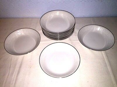 "10 Carlton ""Plymouth"" 303 ~ 7 5/8"" Coupe Soup Bowls w/Silver Trim ~ Excellent"