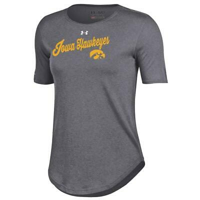YOUTH HEATHER GRAY University of Iowa Hawkeyes Under Armour Hoodie ... 9d49087a8