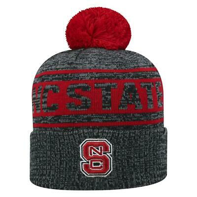 9524d94531ee31 NC STATE WOLFPACK Beanie - NCSU Hungry Wolf Retro Pom Beanie ...