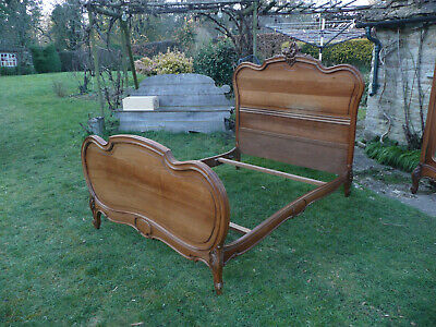 Antique French Bed. Rococo Louis XV Style. Double Bed. Bed Frame. Original.