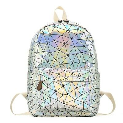 fa0918ed07 Women Hologram Backpack Pu Leather Laser Day Packs Teenager Girls Mochila  Bags