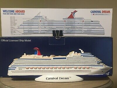 CARNIVAL CRUISE 🚢DREAM Cruise Ship Model ,Officially Licensed With on