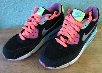 the latest 7c6be 1a31e Women s Nike Air Max Black Pink Blue White Trainers Size 5.5 Fashion