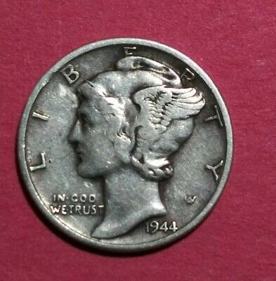 1944 S United States Silver Mercury Dime 10c Coin Me963 099