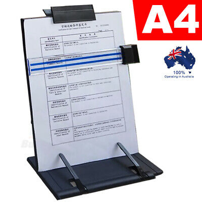 Portable Steel Book Stand Desktop Document Holder with 7 Adjustable Positions