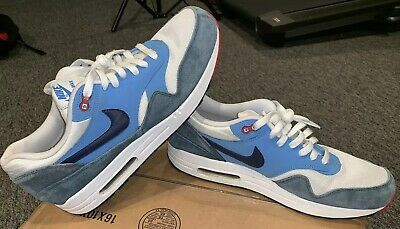 huge selection of a0d0d 5b955 Men s Nike Air Max 1 Essential Running Training Sneakers 537383-119 Size  11.5