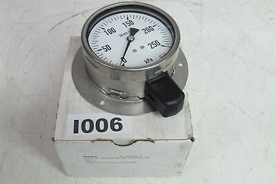 WIKA GAUGE 250KPA 68000016 212.20.100 R 3/8 ISO7 Lower Mount Flange Stainless St