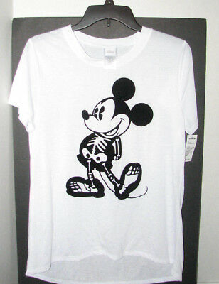 2f238268 WOMENS RETRO MICKEY Mouse Stars Disney T Shirt White Mighty Fine NEW ...
