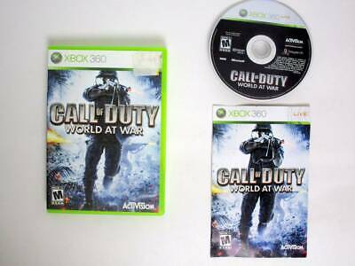 Call of Duty World at War game for Microsoft Xbox 360 -Complete