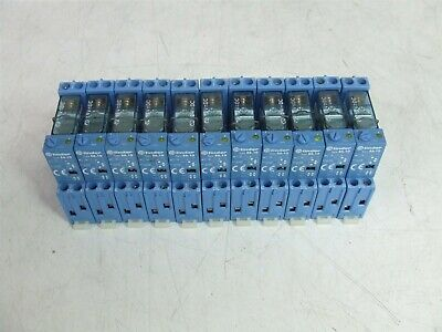 11 x Finder 250V 10A SPDT Relay 40.51, Base 95.05 w/ type 86.10 timer Module