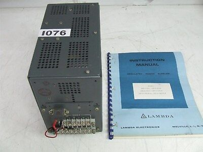 Lambda LXT-D-5152R-B Regulated Power Supply PSU Triple Outputs with manual