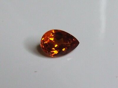 Stunning orange natural pear shaped spessartite garnet gemstone..2.1 Carat.