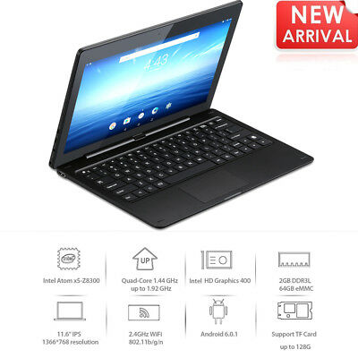 Android 6.0 2GB+64GB Nextbook Ares11A Tablet PC 2*Cam WIFI BT +Clavier Computer