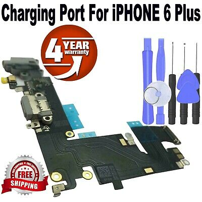 iPhone 6 Plus Charging Port - Replacement Charger Flex Cable USB Dock Mic Black