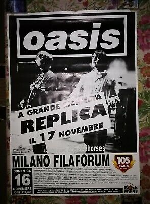 ☆OASIS BE HERE NOW WORLD TOUR 1997 MILANO☆ MANIFESTO POSTER 70X100 cm NO CD