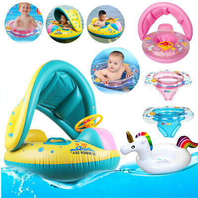 Baby Float Swimming Ring Toddler Childs Inflatable Rubber Ring Boat with SeatUK