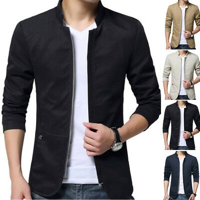 Stylish Men's Cardigan Jacket Slim Long Sleeve Casual Sweater Coat