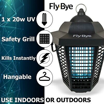 Fly-Bye Powerful UV Electric Insect Wasp Killer Pest Zap Control Bug Zapper Trap