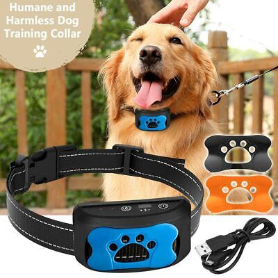 Rechargeable No Bark Anti-Bark Dog Collar Stop Barking Small Medium Large Dog