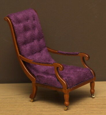 1:12 Dolls House William IV library chair