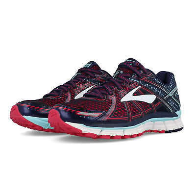 3693251636f Brooks Womens Adrenaline GTS 17 Running Shoes Trainers Sneakers Blue Red  Sports