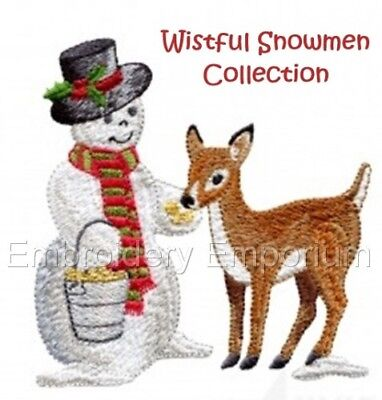 Wistful Snowmen Collection - Machine Embroidery Designs On Cd Or Usb