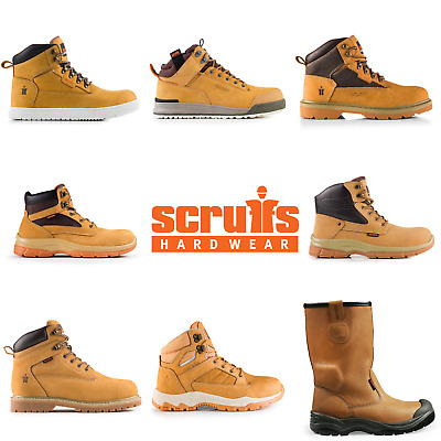 Scruffs Tan Safety Work Boots Trainers Hikers Various Styles (UK Size 3-12)