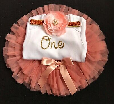 Girls First Birthday Outfit Cake Smash Outfit 1st Birthday Bloomer Blush Tutu